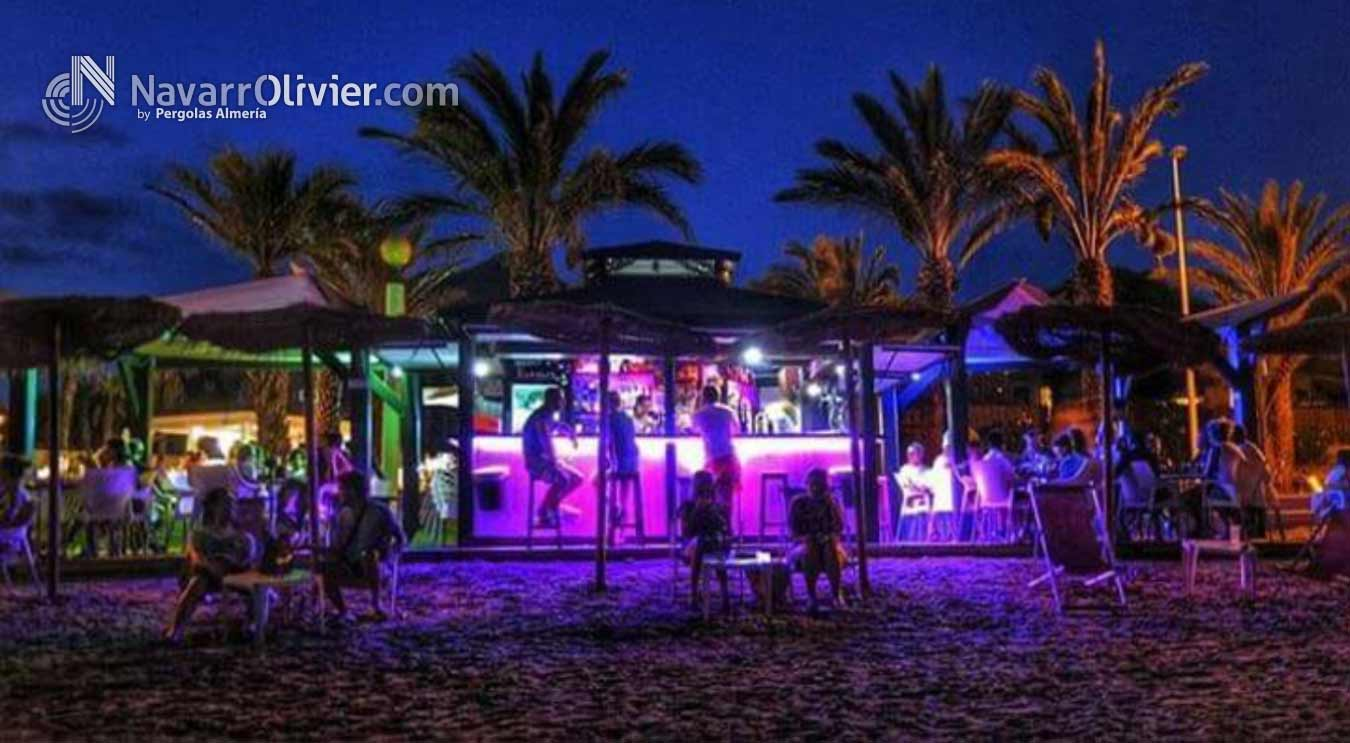 Chiringuito de playa con led rgb