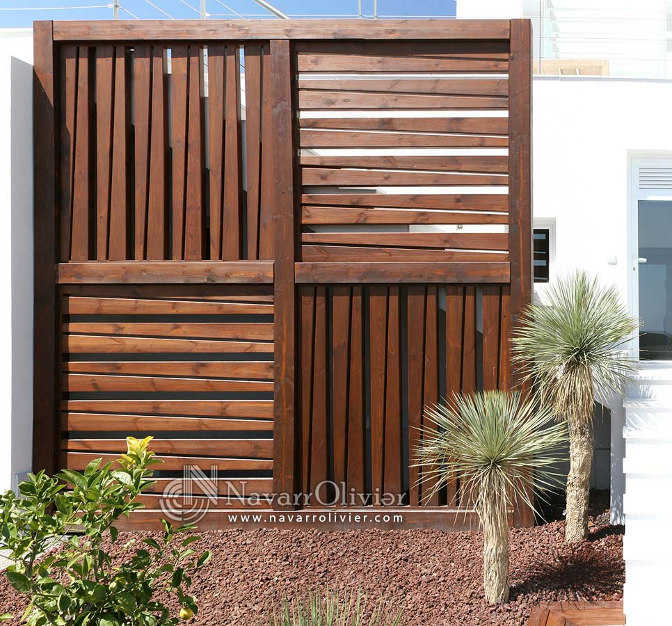 Biombo decorativo en madera para exterior playa macenas beach golf resort - Madera tratada exterior ...