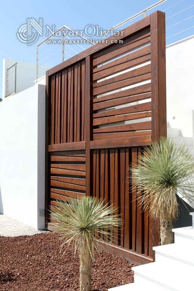 Biombo Decorativo En Madera Para Exterior Playa Macenas