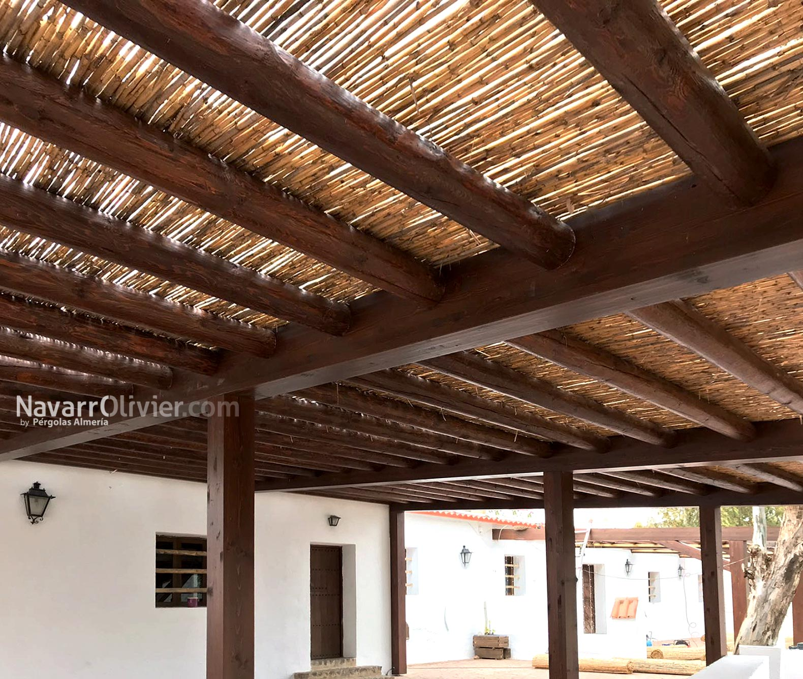 Pergola natural en playa Genoveses