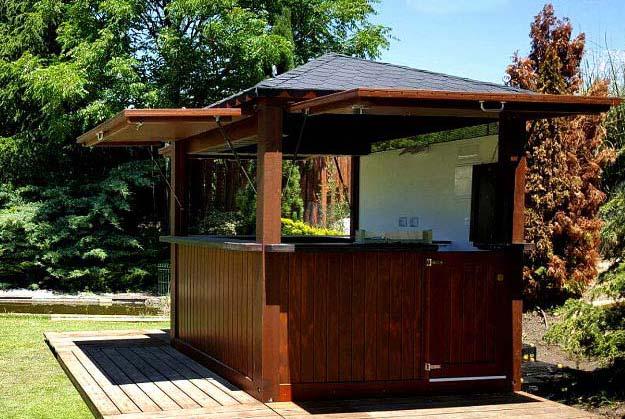 Kiosco modular de madera modelo lemon navarrolivier for Kiosco bar madera