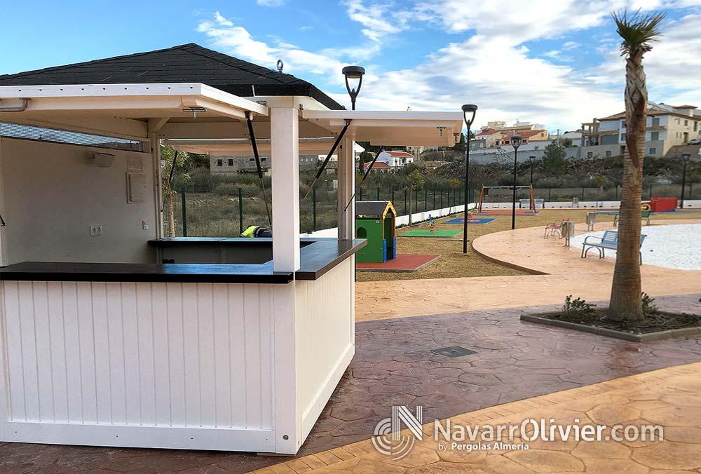Kiosco para parque infantil albox almer a for Kiosco bar madera