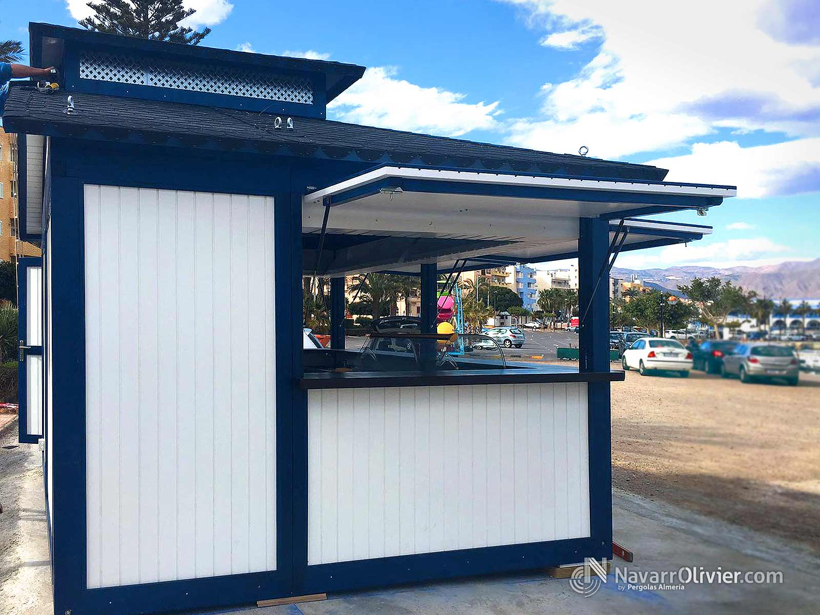 Chiringuitos y kioscos de madera para exterior navarrolivier for Kiosco de madera para jardin