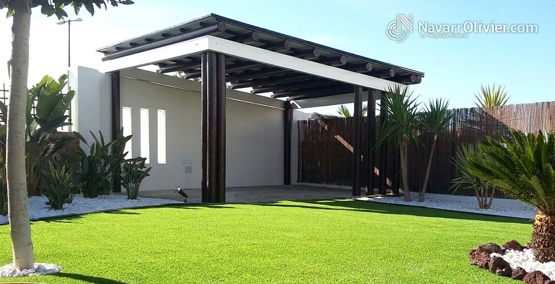 P rgolas y porches en madera para exterior navarrolivier - Madera tratada para exterior ...