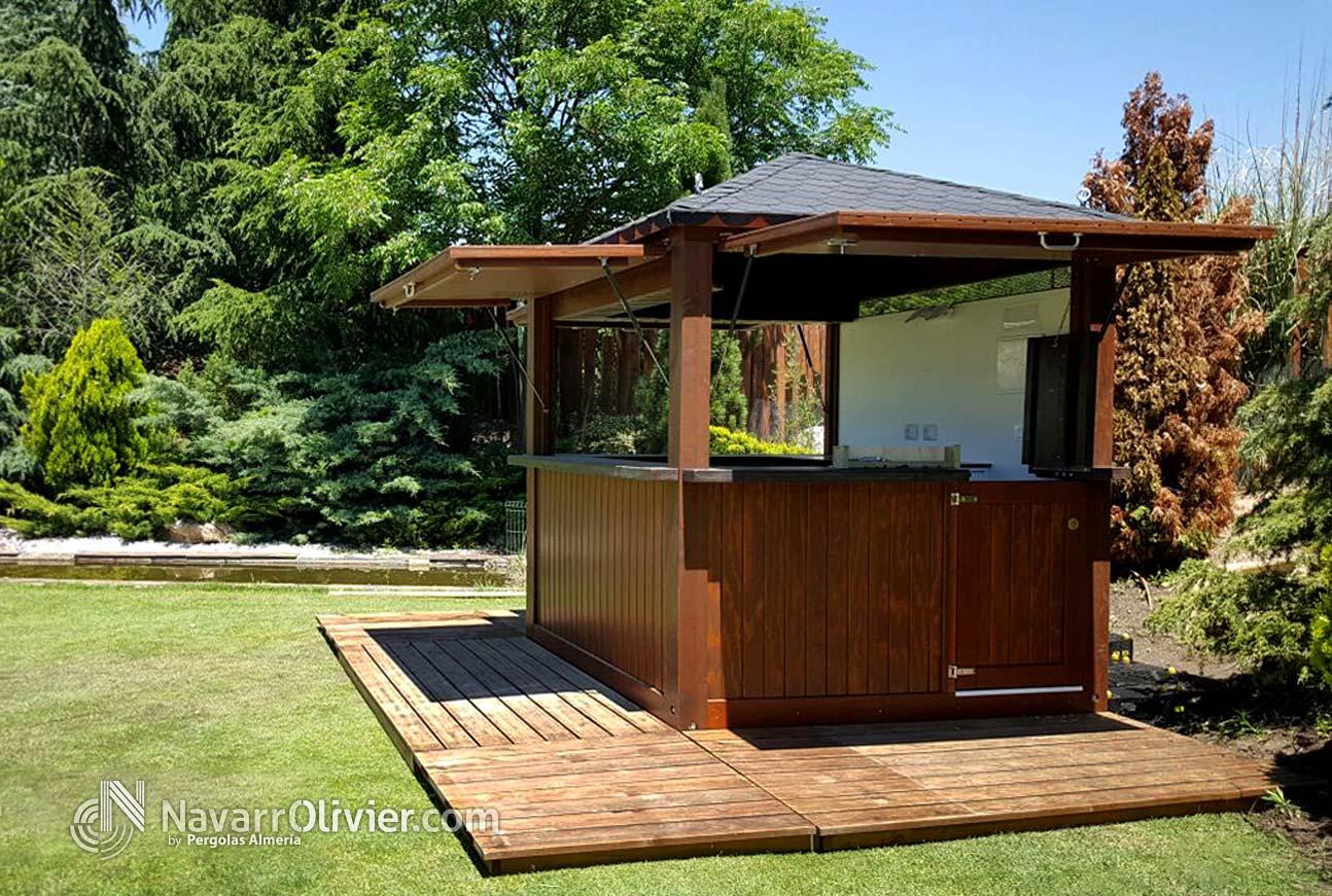 M dulos de madera chiringuitos kioscos y casetas for Kiosco de madera para jardin