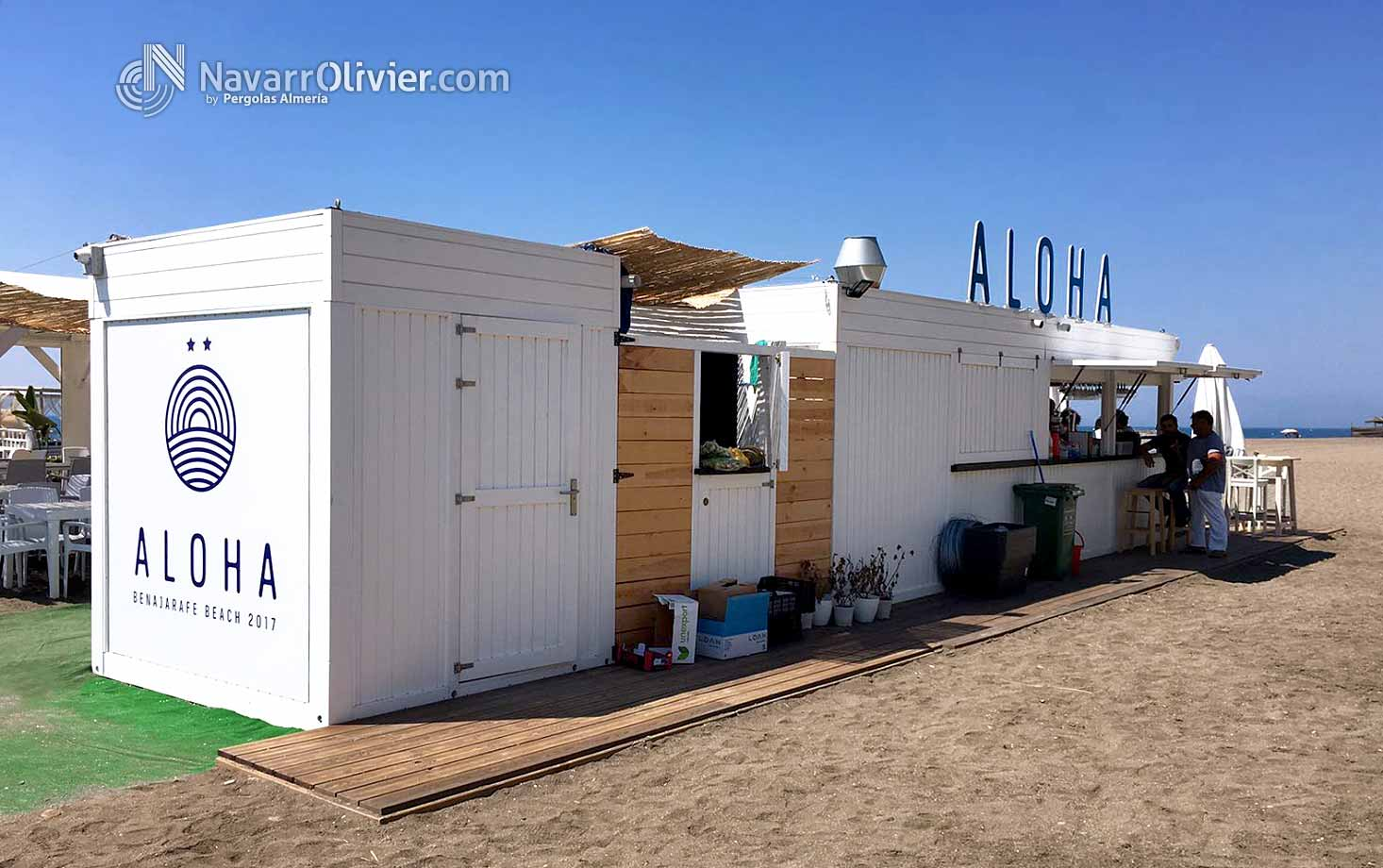 Aloha playa Club de playa desmontable Malaga