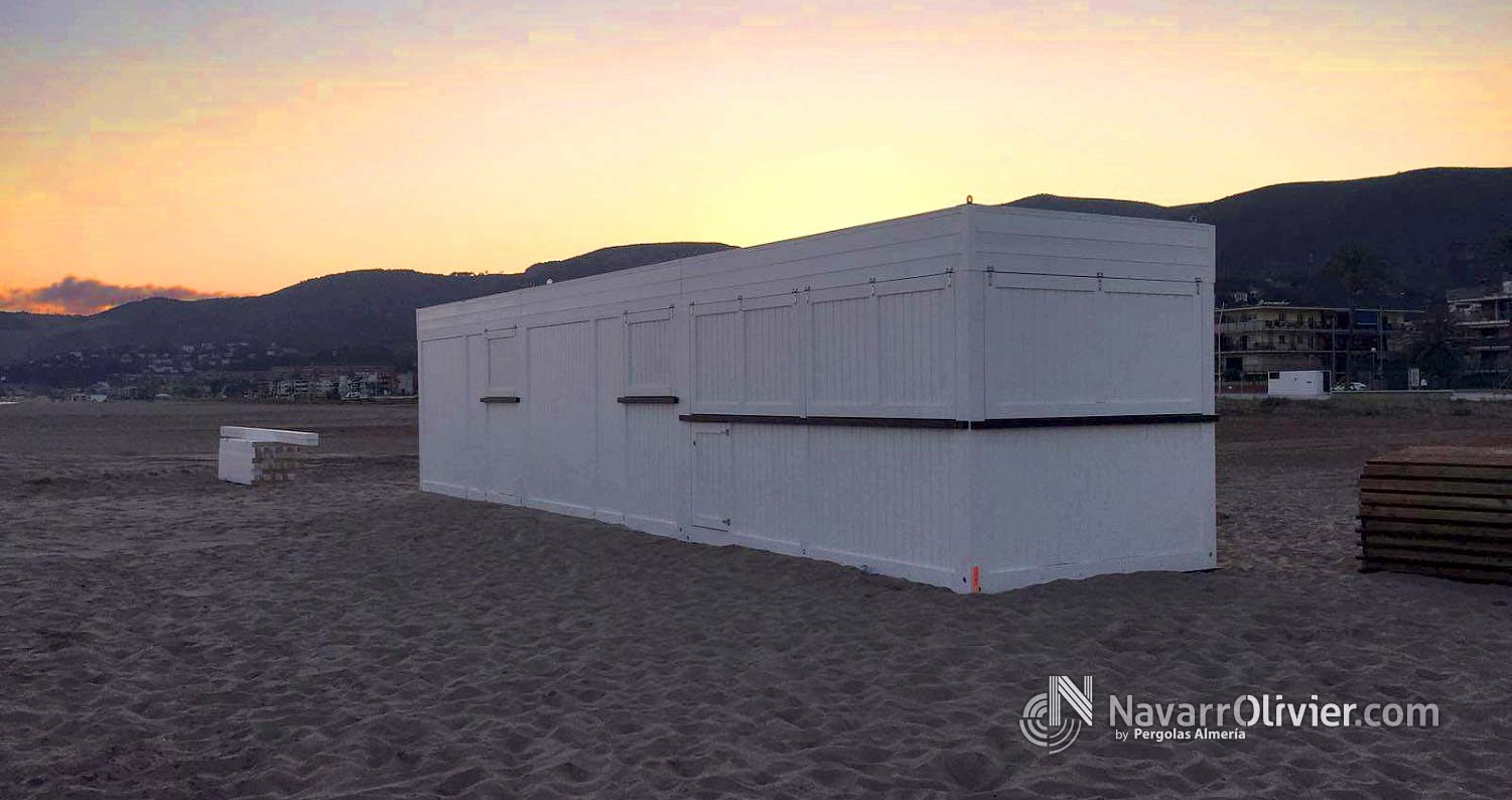 Construccion modular para bar de playa de 30 m2