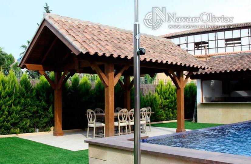 P rgola a 2 aguas tejado estilo tradicional lorca murcia - Pergolas murcia ...