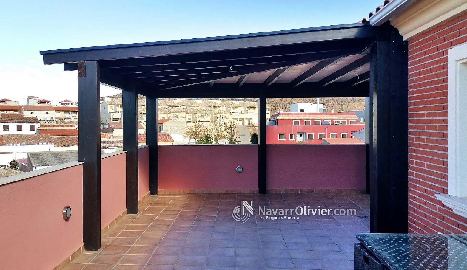 P rgola adosada en madera cubierta para tico puerto - Pergola terraza atico ...