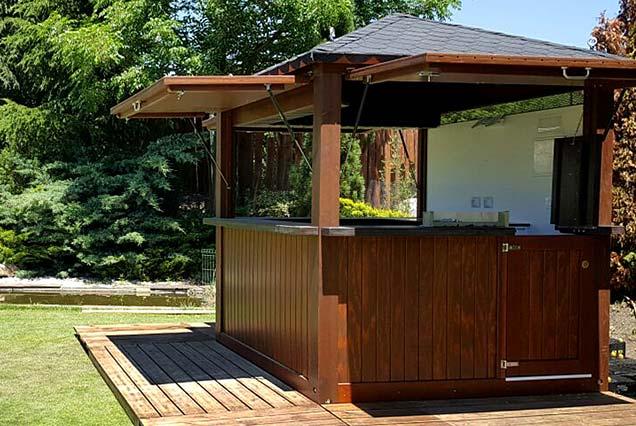 M dulos de madera chiringuitos kioscos y casetas for Kioscos de madera baratos