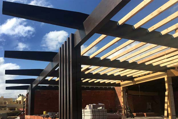 Carpinter a navarrolivier construcci n en madera - Construccion de pergolas de madera ...